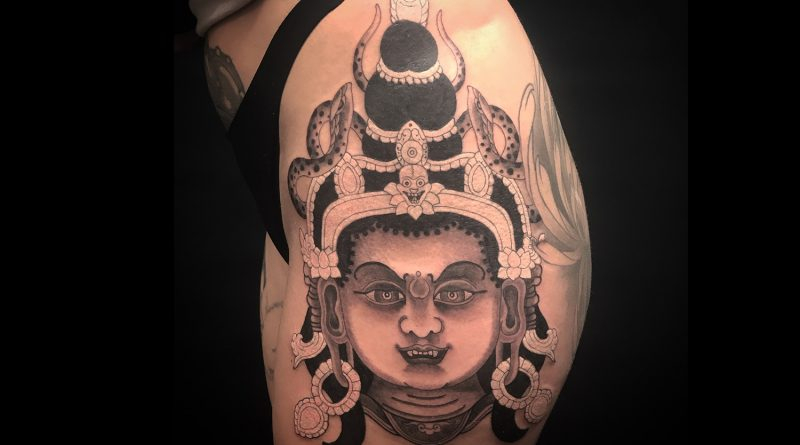 A tattoo design at Dharma Tattoo in Bow