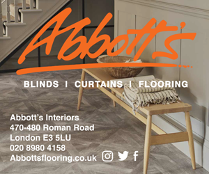 Abbott's Interiors Roman Road ad