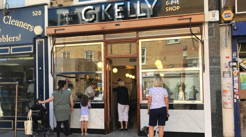 G. Kelly pie and mash shop on Roman Road in East London