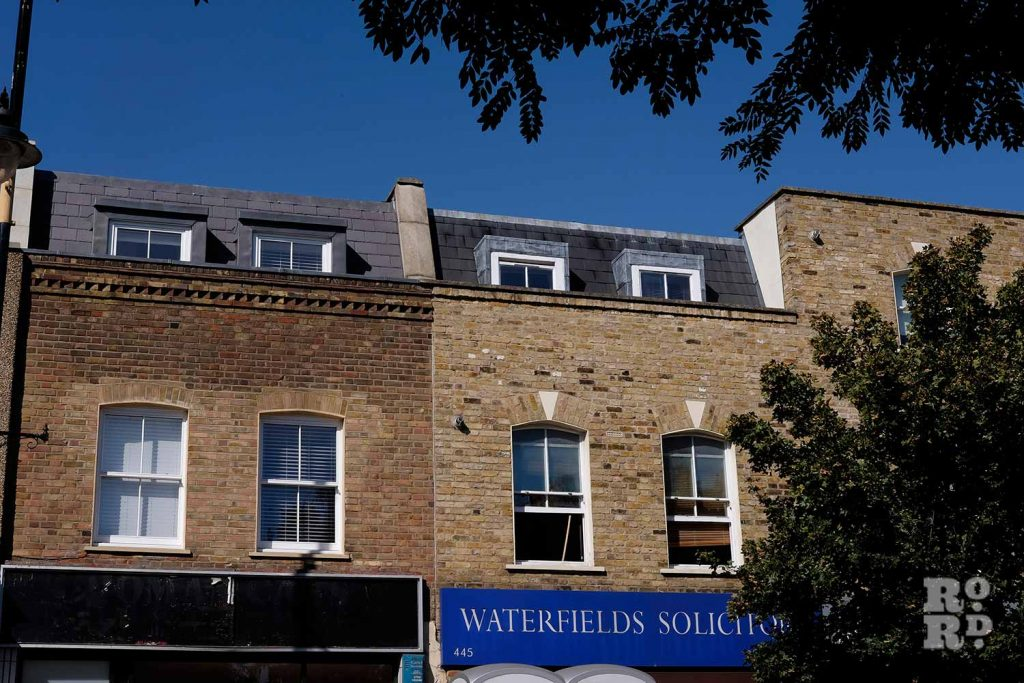 Mansard roofs above Waterfield Solicitors
