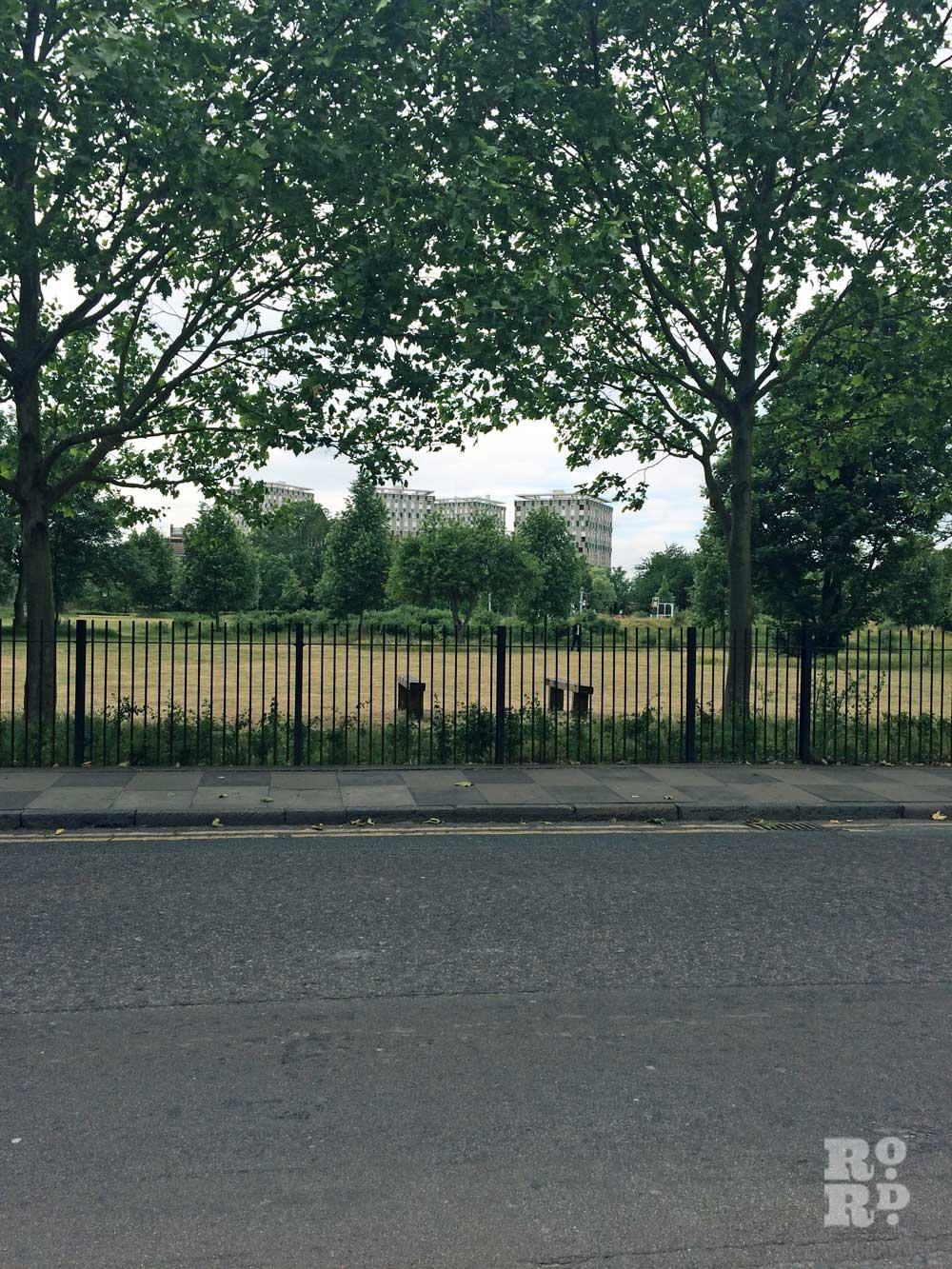 Wennington Green site where Rachel Whiteread's concrete house once stood