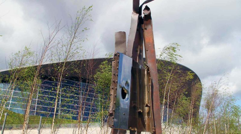 The 9/11 public artwork in Queen Elizabeth Olympic Park