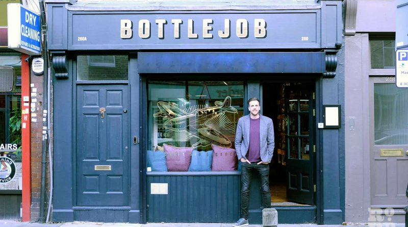 Owner Alex Dehayen outside new bottle shop BottleJob in Globe Town
