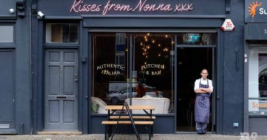 Chef standing in the door way of new Italian restaurant Kisses from Nonna on Roman Road