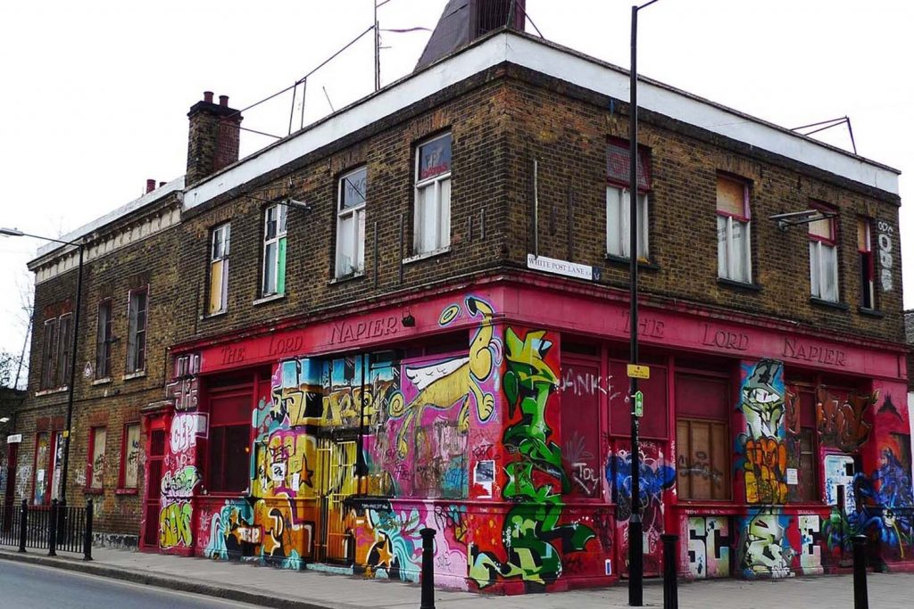 The Lord Napier in 2010/2011 with organic graffiti