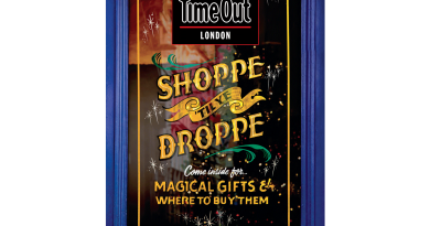 Time Out Christmas front page designed by Luminor signpainters, Roman Road