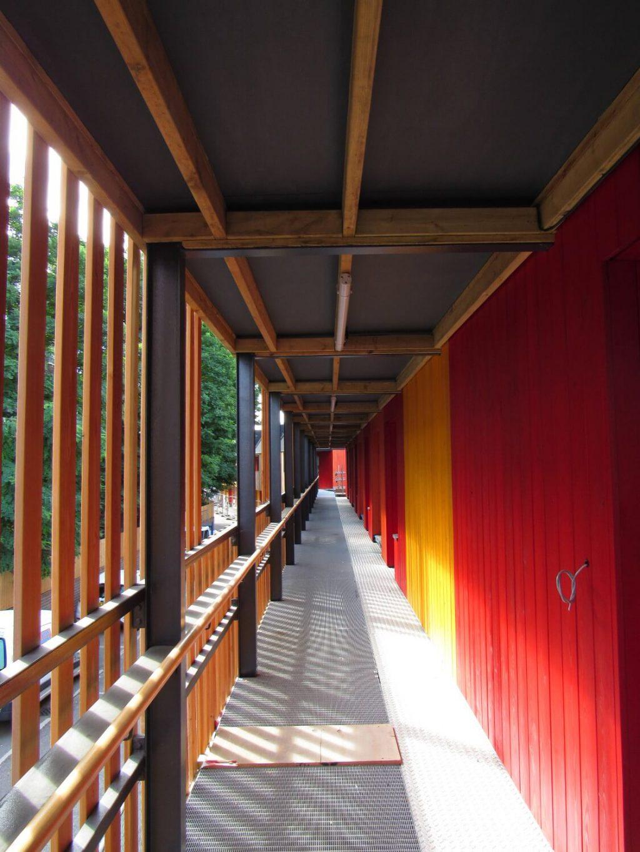 Walkway at Poplar Works fashion studios in East London
