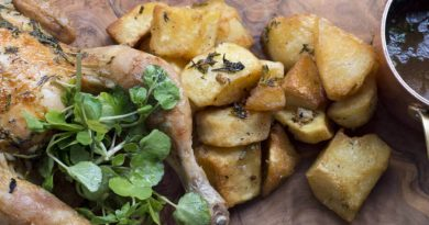 Roast chicken recipe from The Brick Lane Cookbook