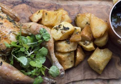 Roast chicken recipe from The Brick Lane Cookbook