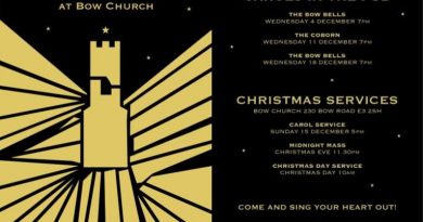 Flyer for carols at the pub by bow church