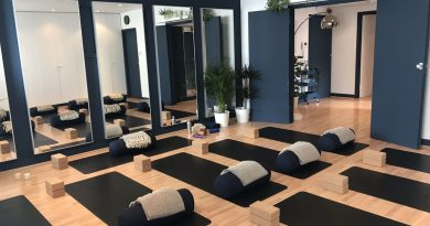 Yoga mats and equipment down in move studio london