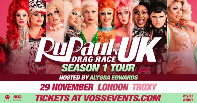 RuPaul's Drag Race UK promotional poster for season 1 tour at Troxy