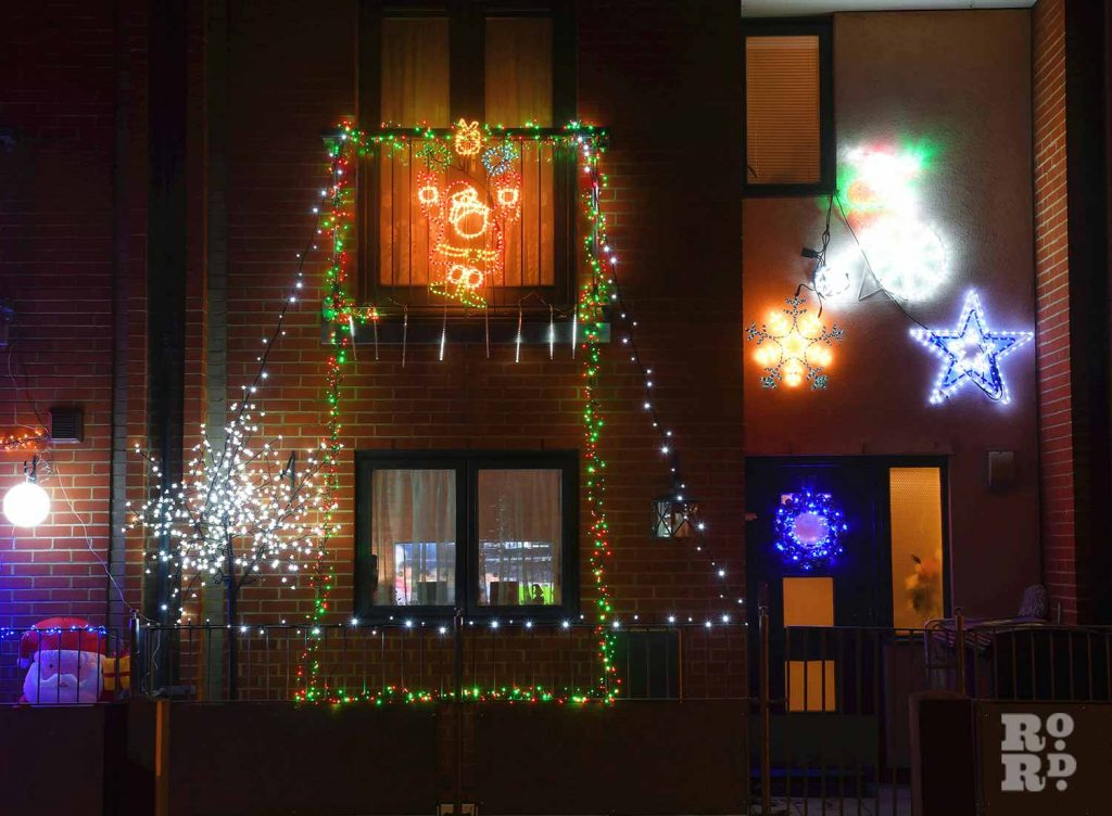 Christmas lights Roman Road Phil Verney Lacey Mews House 2