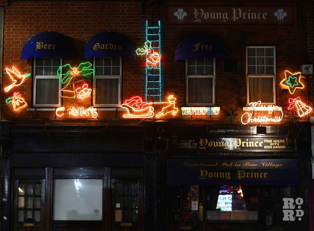 Christmas lights Roman Road Phil Verney Young Prince