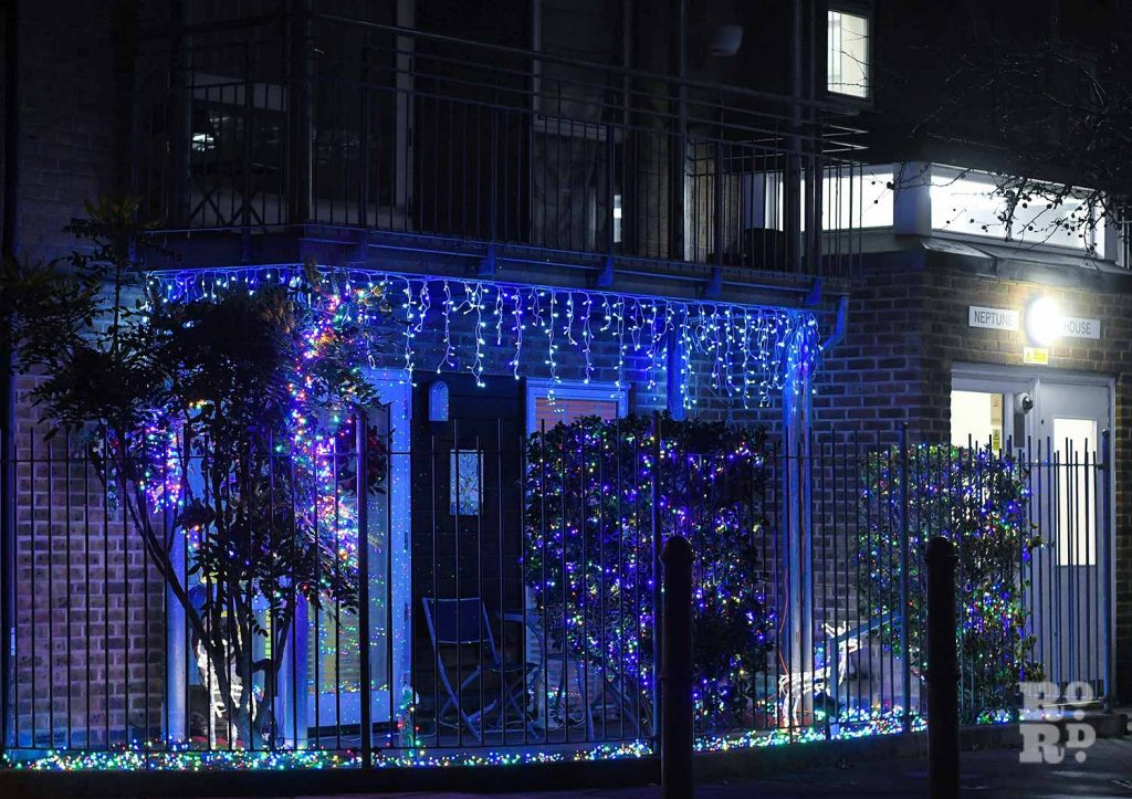Christmas lights Roman Road Phil Verney Garrison road 1
