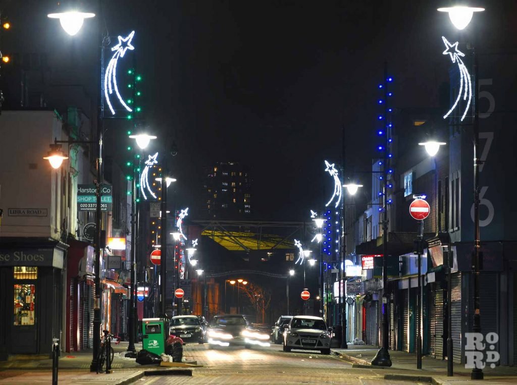 Christmas lights Roman Road Phil Verney High Street lights 1