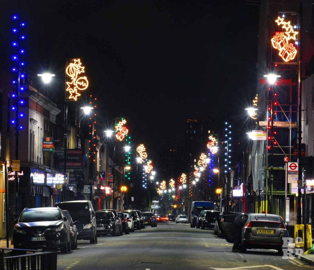 Christmas lights Roman Road Phil Verney High Street Lights 2