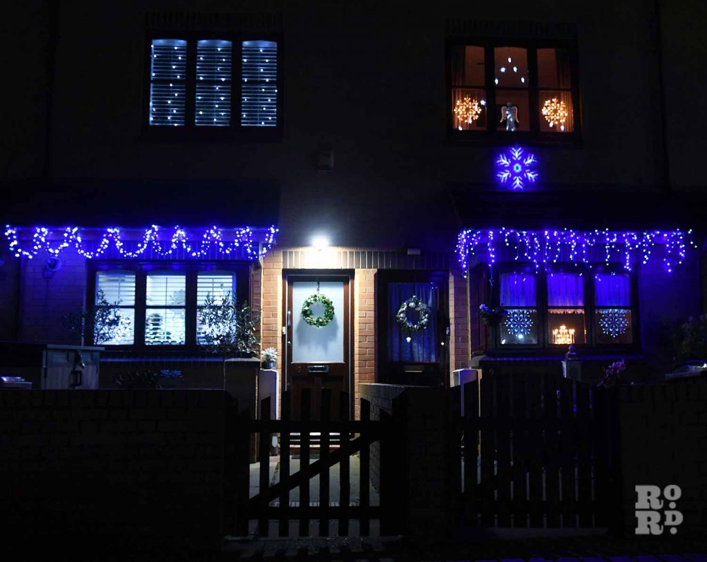 Christmas lights Roman Road Phil Verney Armagh road House