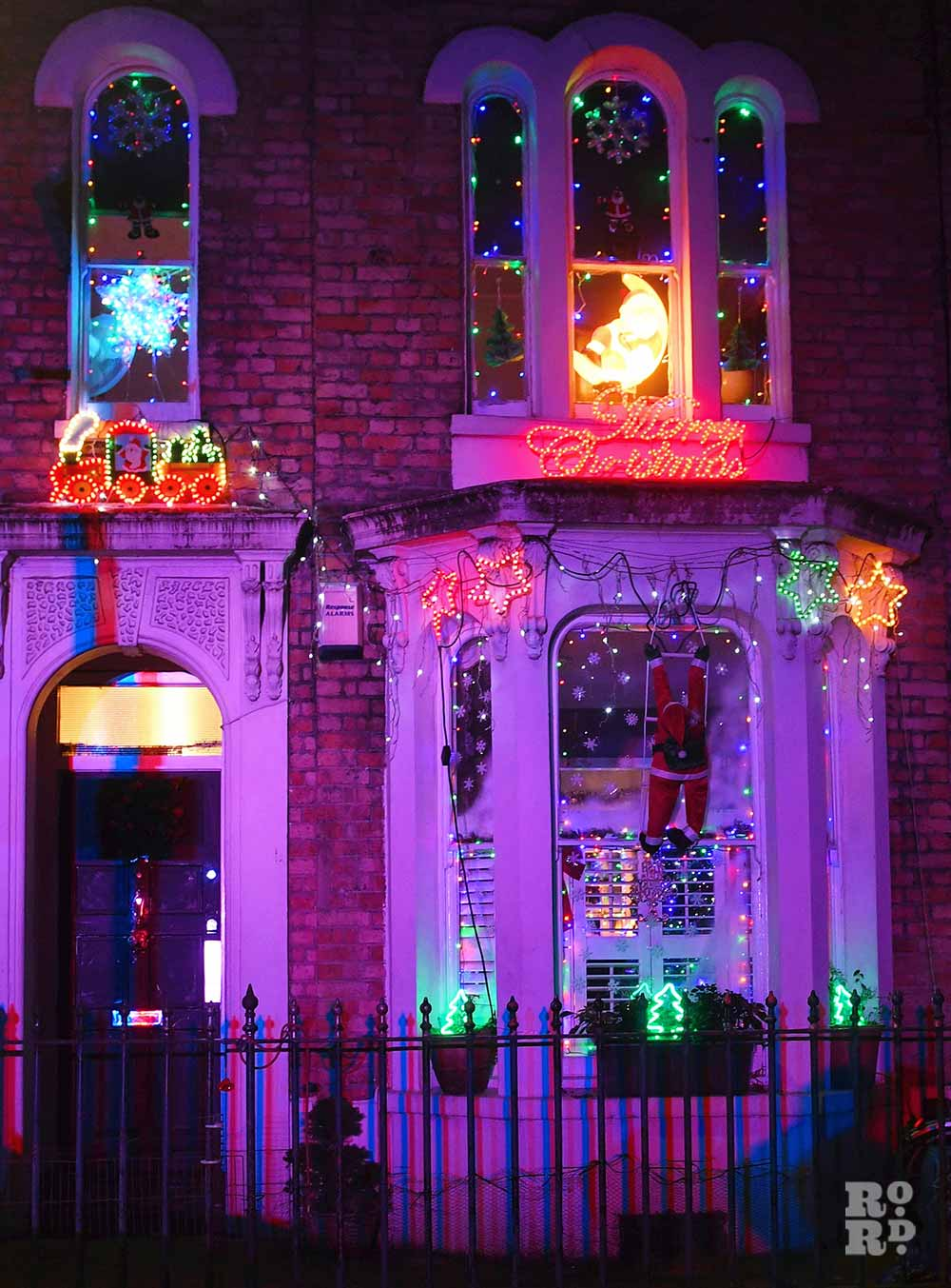Christmas lights Roman Road Phil Verney Saxon Road House