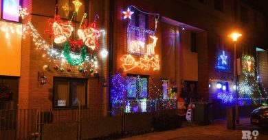 Christmas lights Roman Road Phil Verney Lacey Mews House