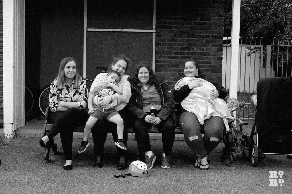 Family watching players at Victoria Park Bowls Club
