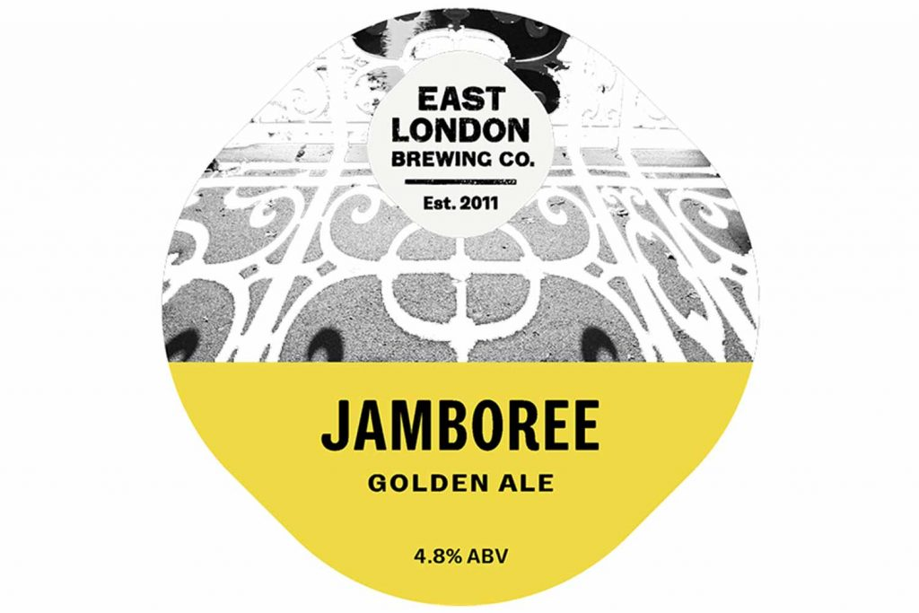 Jamboree Golden Ale label, by East London Brewing Company