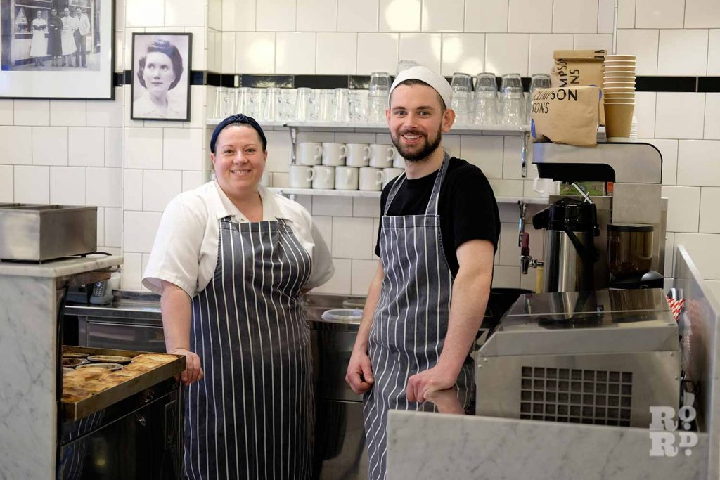G.Kelly pie and mash Roman Road members of staff