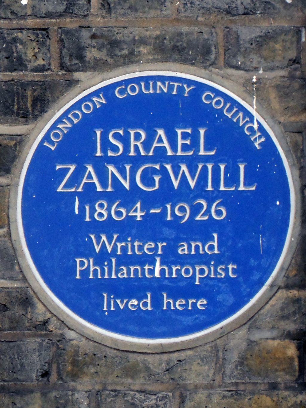 Blue plaque 288 Old Ford RoadIsrael Zangwill East End Jewish Writer