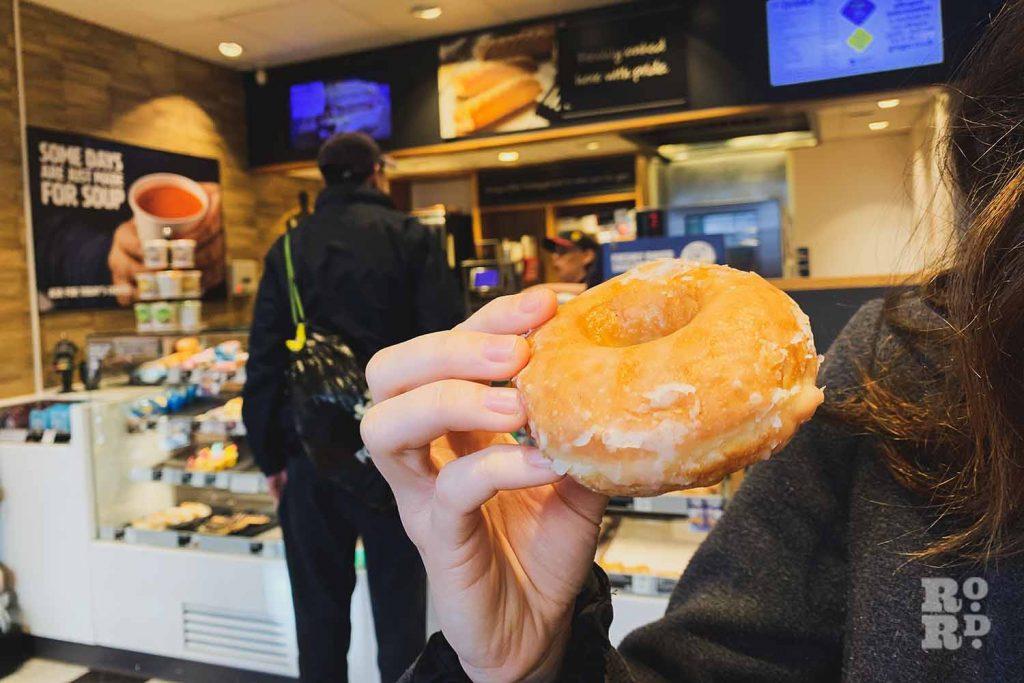 Greggs vegan glazed donut