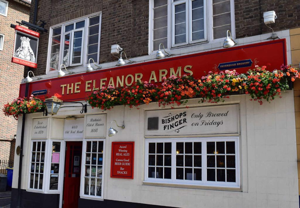 Eleanor Arms pub on Old Ford Road