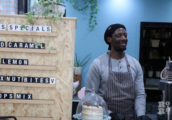 David Amoateng, owner of Mama Mae cake shop on Roman Road.