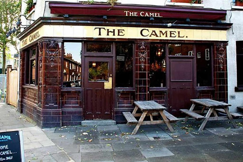 Exterior of The Camel Pub in Globe Town
