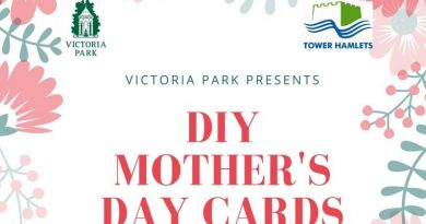 Designing Mother's Day cards at Victoria Park