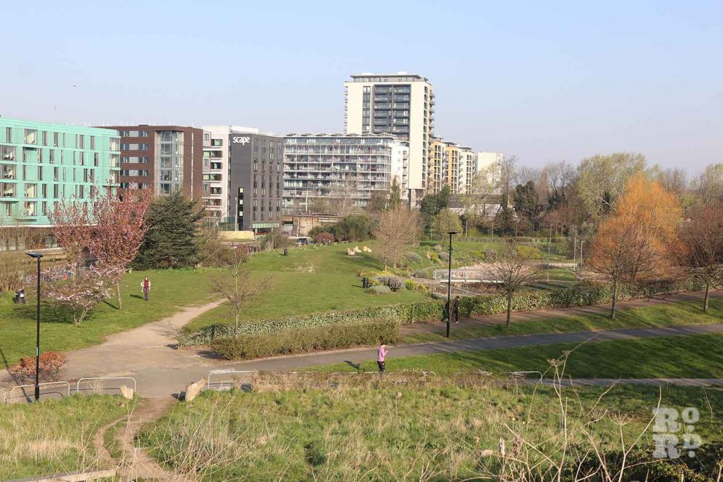 Landscaped gardens, Mile End Park, London