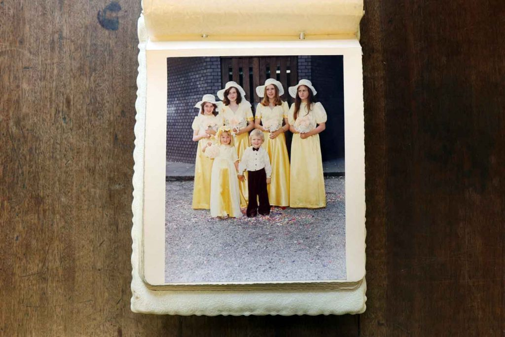 Bridesmaids, St Pauls Bow Common 1974.