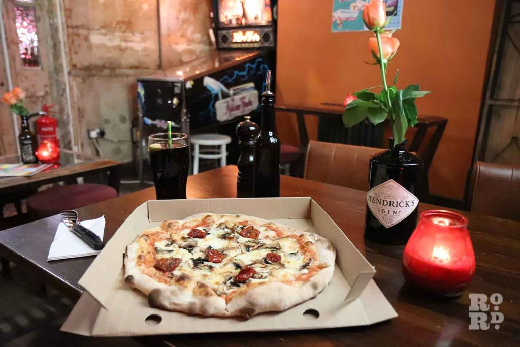 Pizza from Sourdough Salon at Lord Morpeth pub, Bow