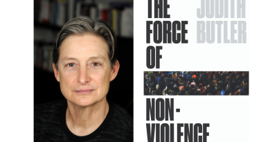 Poster for Judith Butler's lecture on new book the force of non-violence at Whitechapel Gallery