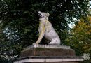Dogs of Alcibiades, statues guarding Bonner entrance of Victoria Park, East London