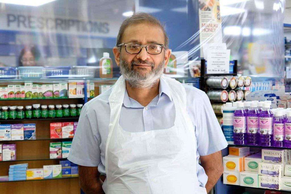 Bindesh Patel pharmacist, Sinclair Pharmacy, Roman Road, East London