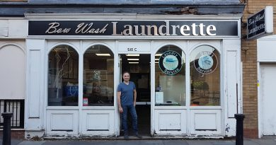 Dennis Mehmet, owner of Bow Wash Laundrette ©Mark Chamberlain