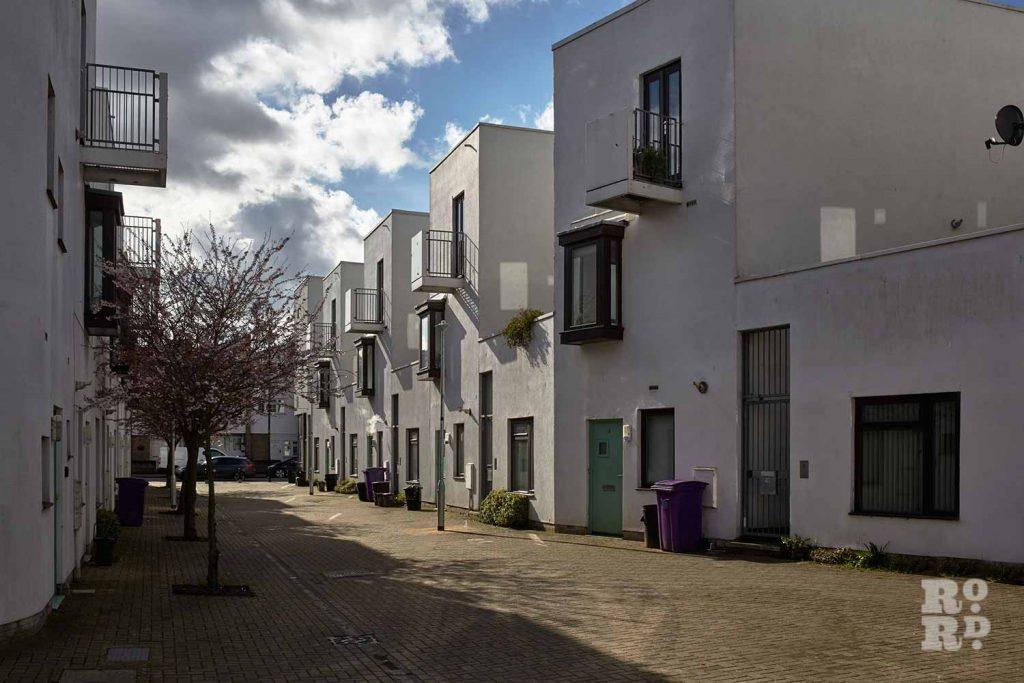 Terraced rows, Donnybrook Quarter, Bow, East London (photos by Yev Kazannik)