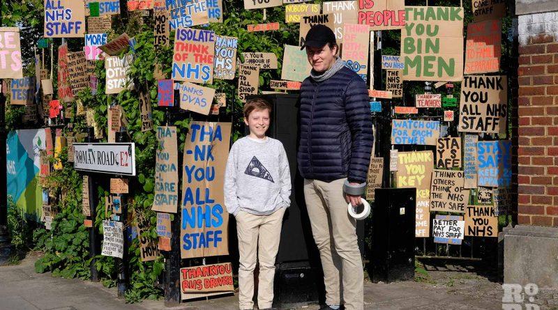 Peter Liversidge NHS Sign Paintings