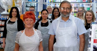 Bindesh Patel and the team at Sinclair Pharmacy, Roman Road, East London