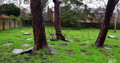 Graveyard at Velho Cemetry in Mile End, East London