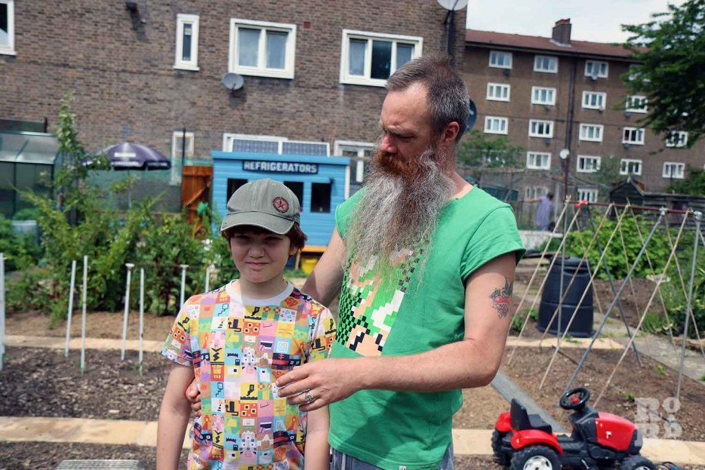 Allotment song artist, Paul Baxter with son Hercules
