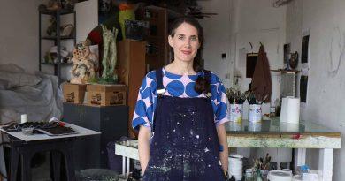 Hannah Brown Artist in her Fish Island Studio