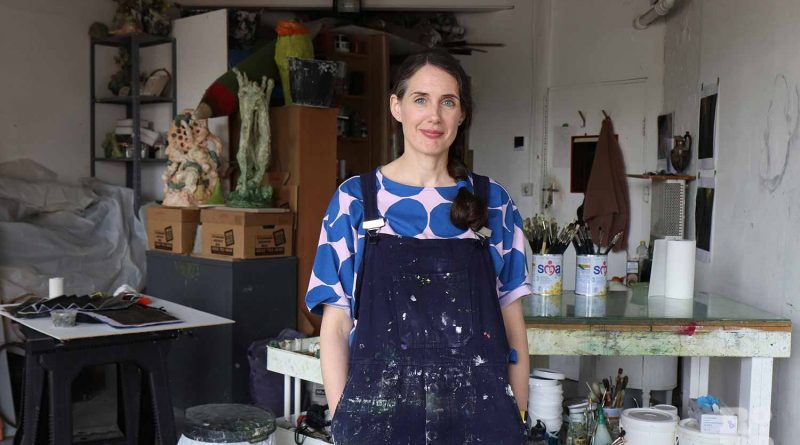 Hannah Brown Artist in her Fish Island Studio