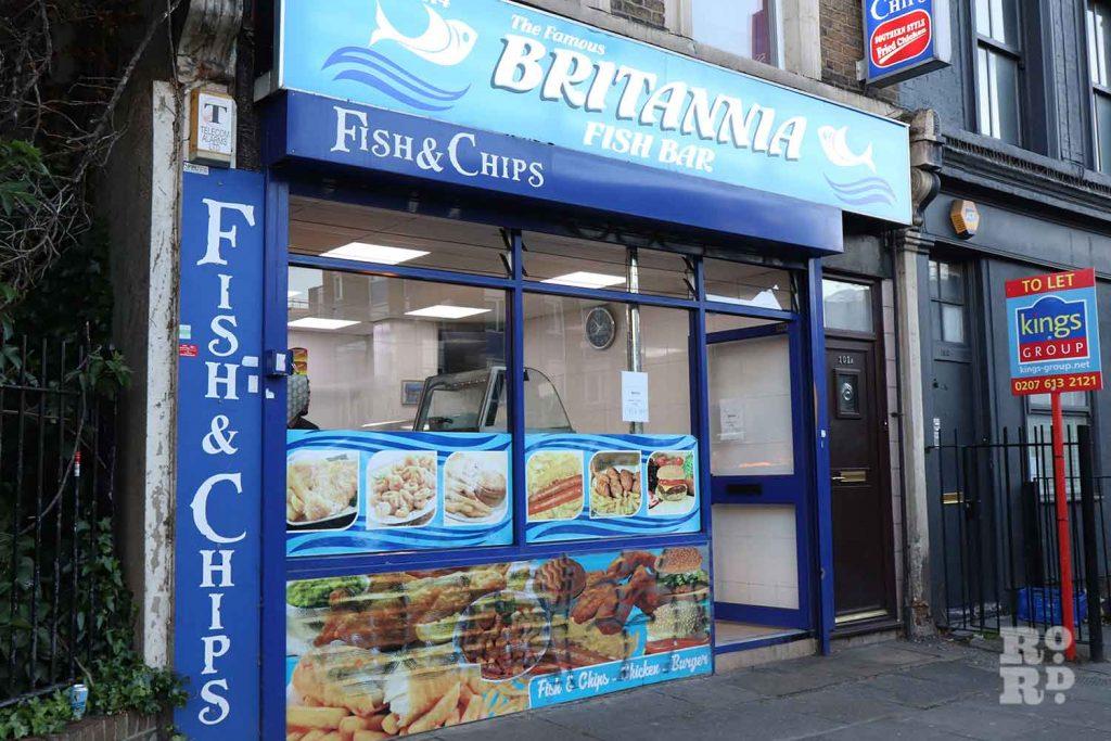 Britannia Fish Bar, Grove Road, Bow, East London