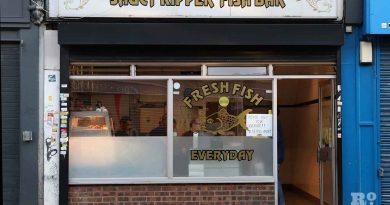 Saucy Kipper Fish Bar on Roman Road, East London