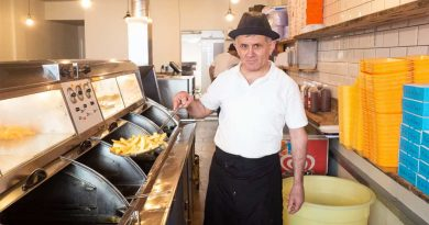 Owner of Greedy Fish and Chip shop in Globe Town